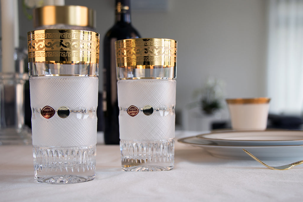 Gold decor tumblers