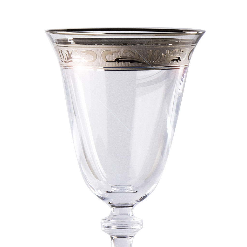Alexandra platinum decor wine glass