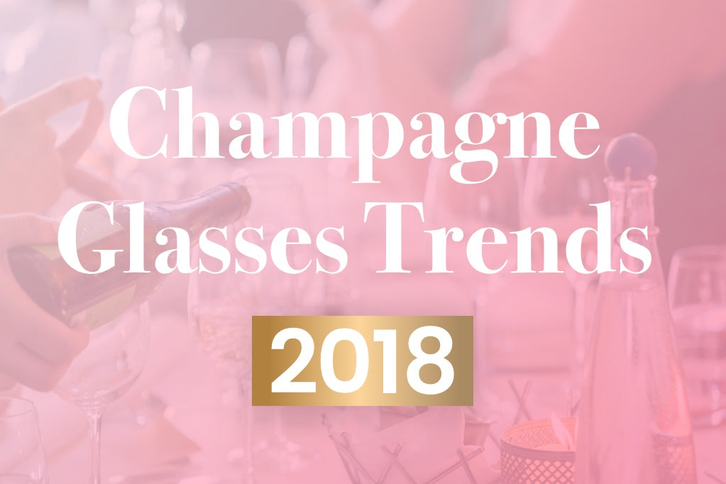 Champagne glasses trends 2019