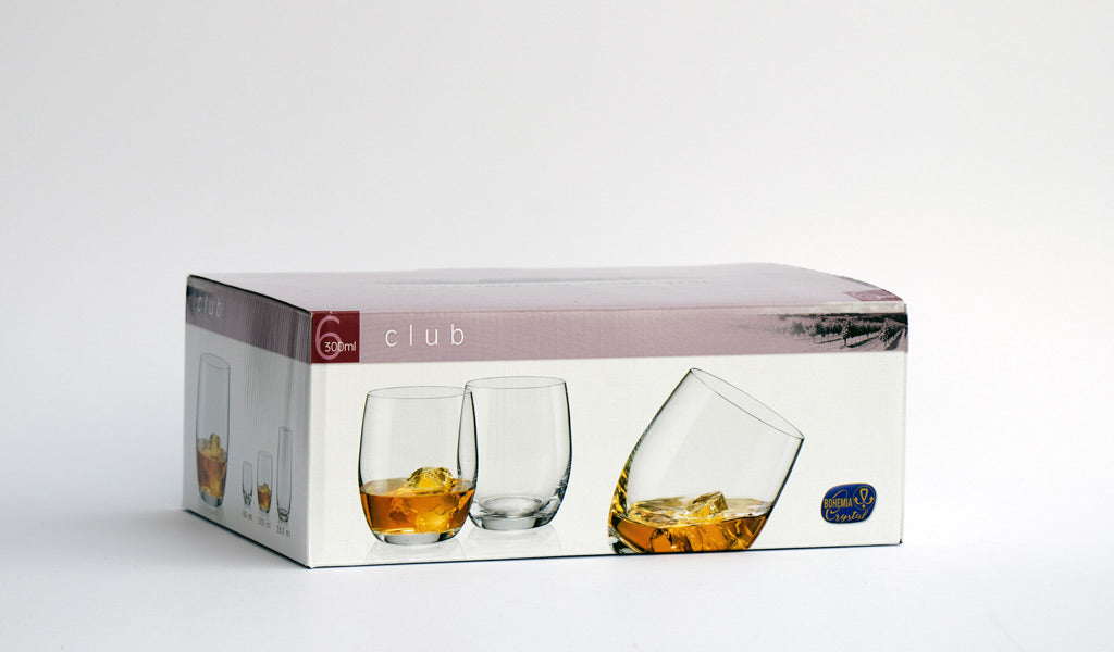 Whiskey tumblers set box