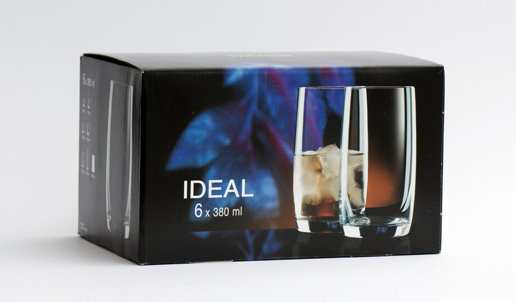 Whiskey high ball glass box