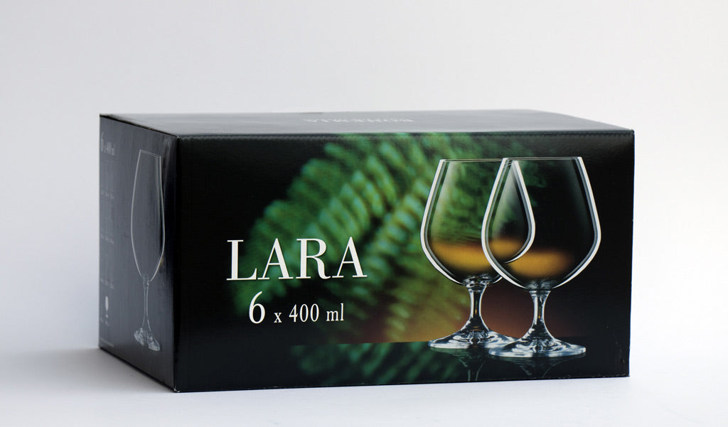 Lara brandy glass set box