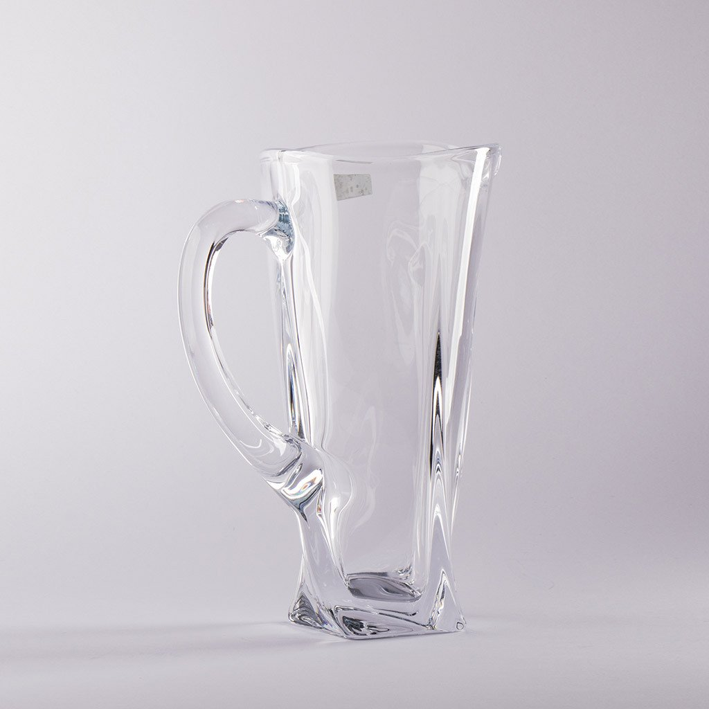 Crystal glass jug