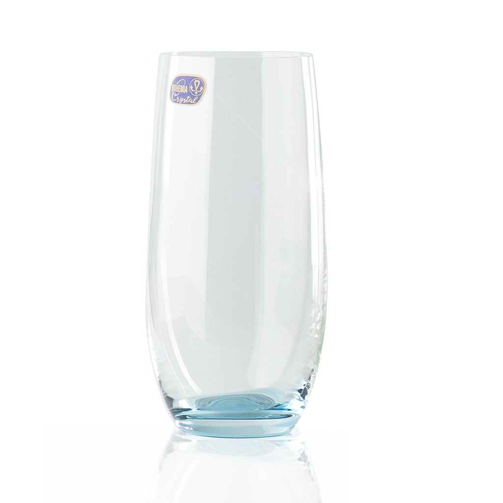 Rainbow color crystal glass blue
