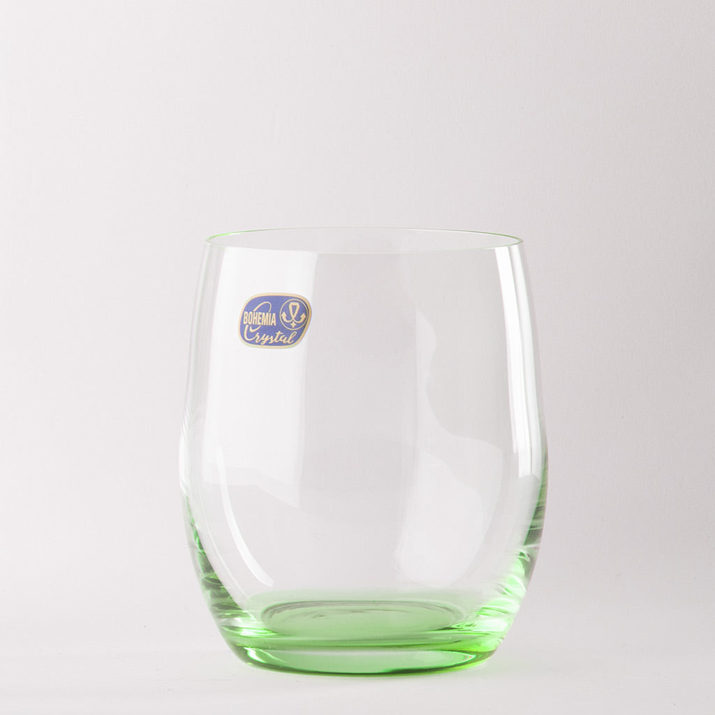 Rainbow green color crystal glass