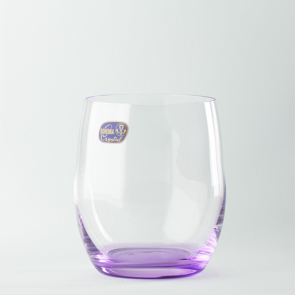 Rainbow purple color crystal glass