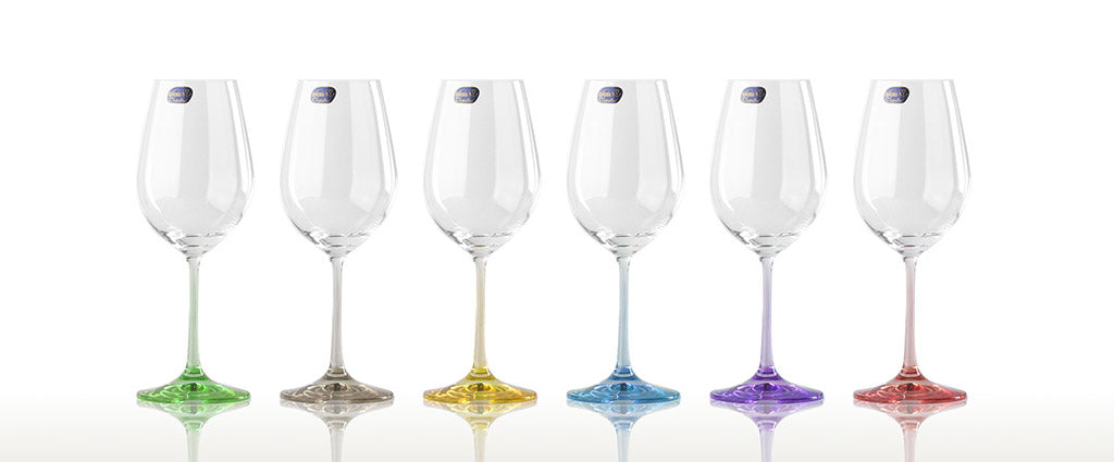 Rainbow wine set