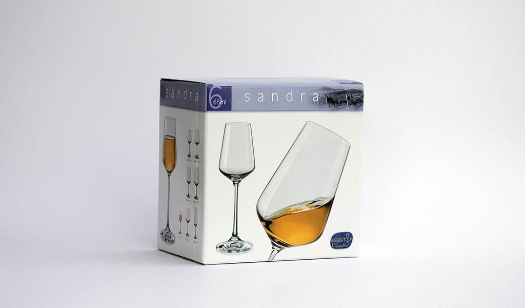 Sandra liquor glasses box