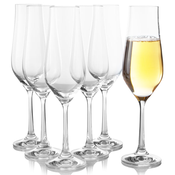 Tulipa Champagne Flutes Set of 6 (5.7 oz)