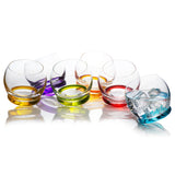 Crazy colored Tumblers Set of 6 Glass (13.18 oz)