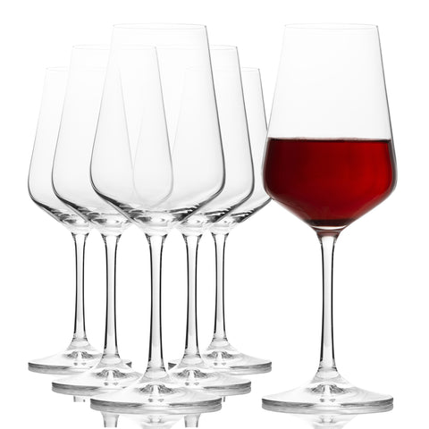Sandra Red Wine Glasses Set of 6 (11.8 oz)