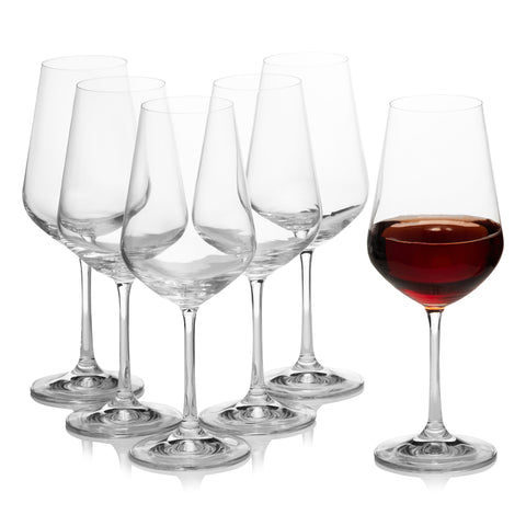 Sandra Big Red Wine Glasses Set of 6 (15 oz)