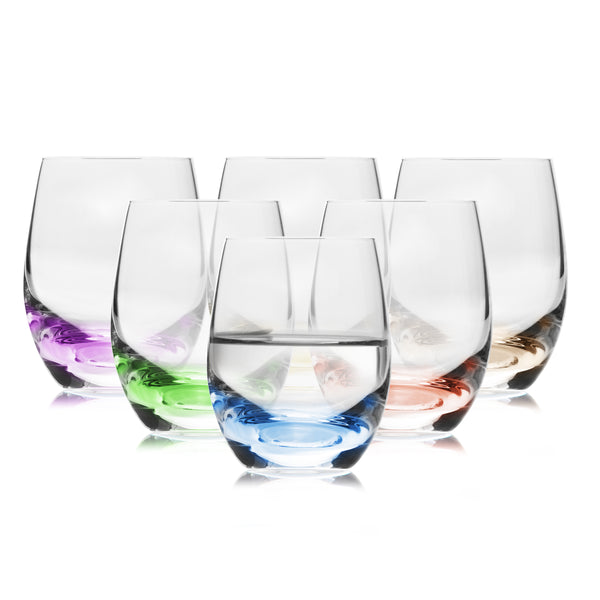 Rainbow colored Shot Glasses Set of 6 (2.2 oz)