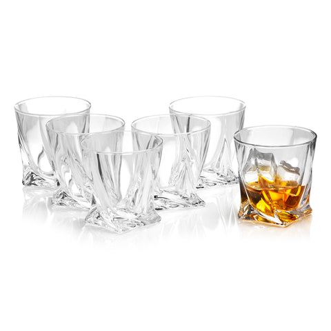Quadro Premium Whiskey Tumblers Set of 6 (11.4 oz)