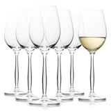 Cindy White Wine Glasses Set of 6 Glass (8.4 oz)