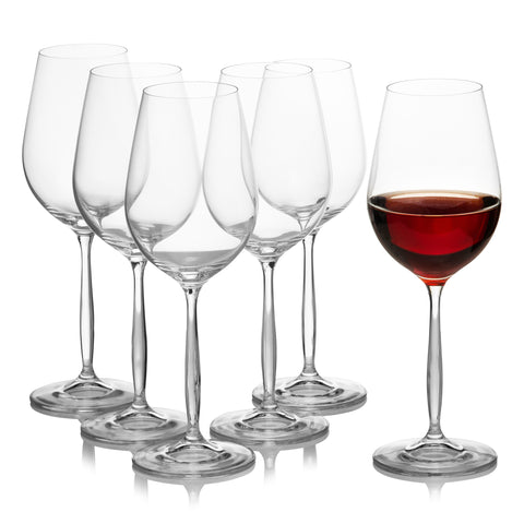 Cindy round red wine glasses set of 6 (15.2oz)