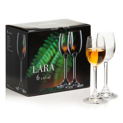Lara Liquor Glasses Set of 6 (2.1 oz)