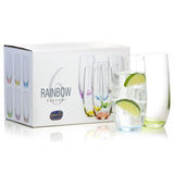 Rainbow colored Tumblers Set of 6 (11.8 oz)
