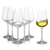 Sandra White Wine Glasses Set of 6 (8.4 oz)