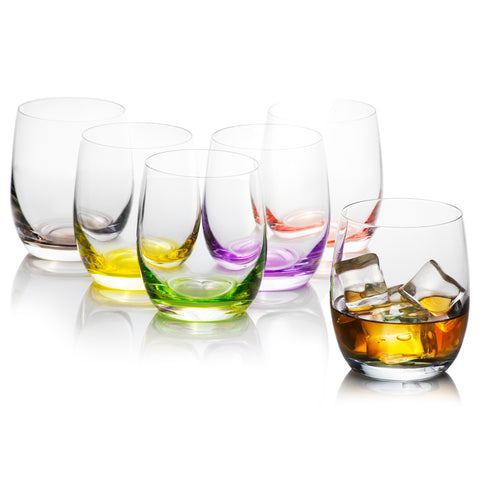 Rainbow Colored Tumblers Set Of 6 (10 Oz)