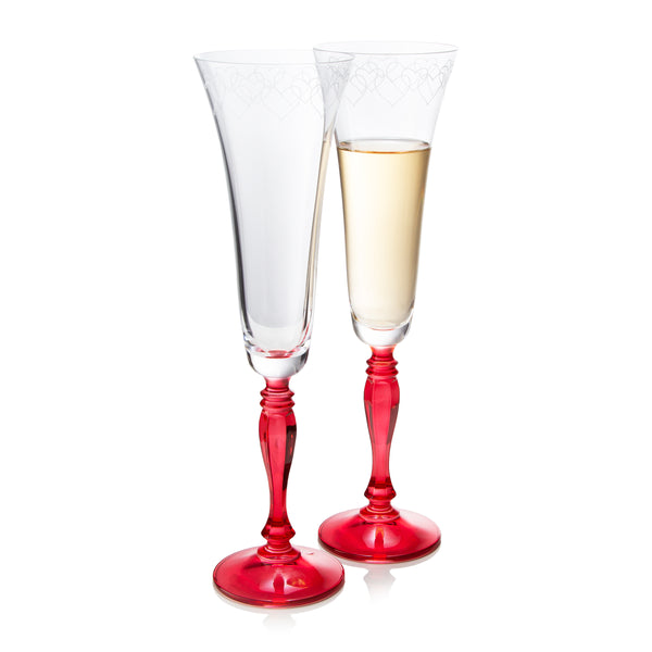 Love Champagne Flutes Set of 2 (6 oz)