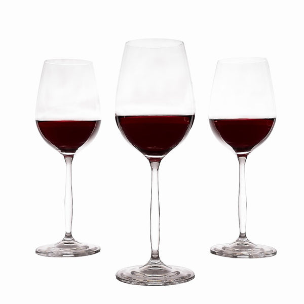 Cindy tall red wine glasses set of 6 (11.8oz)