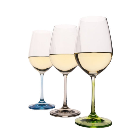 Rainbow colored Wine glasses Set of 6 (11.8 oz)