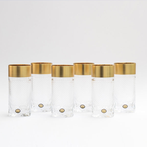 Gold Decor Tumblers Exclusive Set of 6  / 11.8oz each