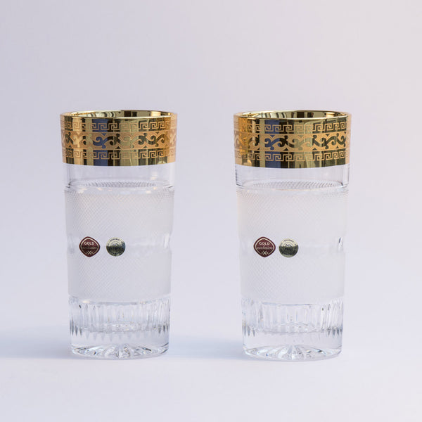 Premium Gold Decor Tumblers  Set of 2 /  11.8oz each