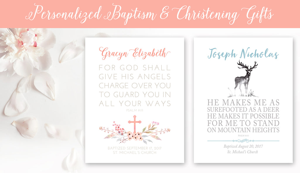 Personalized Baptism and Christening Gifts for Children