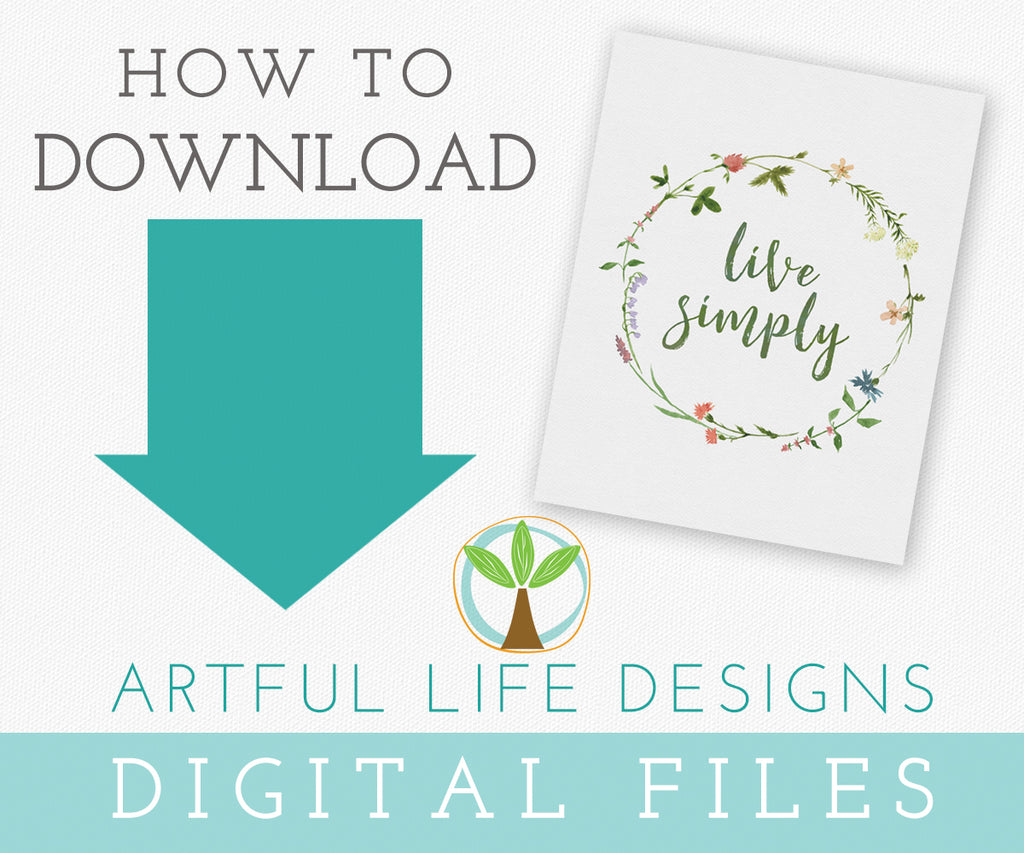 How to Download Your Artful Life Digital Files