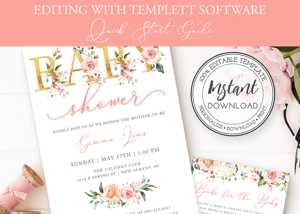 Quick Start Guide to Editing Templates Using Templett Browser Software