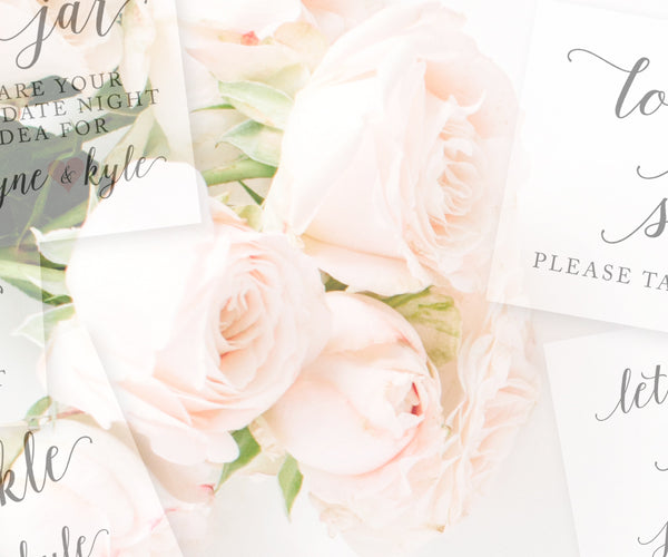 Digital Wedding Signs & Stationery