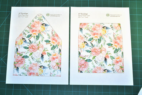 Artful Life Designs Floral A7 Envelope Liners