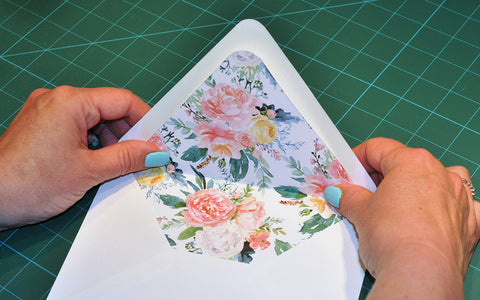 Fold envelope flap and liner