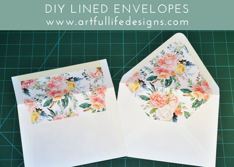 DIY lined envelopes