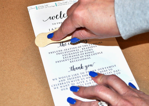 Fold and Crease Your Wedding Program Fans