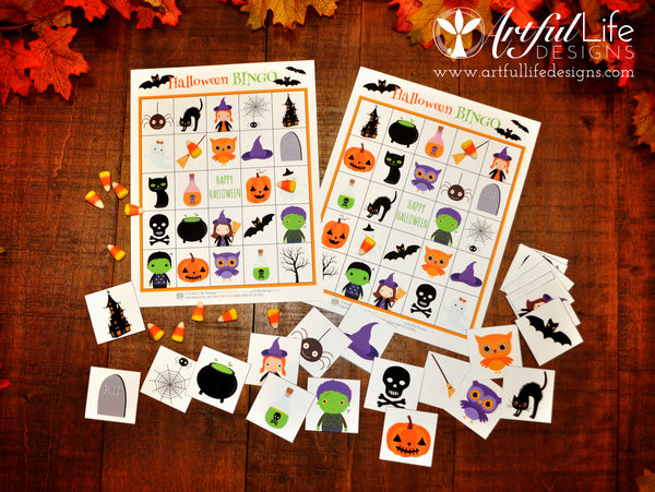 Artful Life Designs Free Halloween Bingo Printable Game