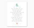 Bible Verse Wall Art, Psalm 121: 5-8, The Lord Watches Over You, Nursery Print with Boy Baby Bird