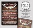 Oh Deer Baby Shower invitation template