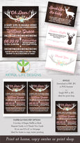 Oh Deer Baby Shower invitation, books for baby, diaper raffle and thank you card templates Artful Life Designs