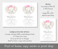 Paper saver option for elephant baby shower invitation set