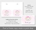paper saver option for baby girl elephant thank you card template