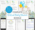 Baby Elephant Virtual Baby Shower Bundle, Online baby shower kit
