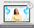 Baby Boy Elephant Virtual Baby Shower Zoom Background template