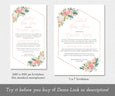 Floral Virtual Baby Shower Invitation, Editable Template, Long Distance Shower, Social Distancing Shower, Instant Download, two sizes