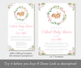 Two sizes, Deer Baby Shower Invitation, Editable Template, Virtual Baby Shower, Social Distancing Shower, Long Distance Shower, Instant Download