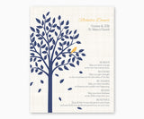 Personalized Baptism or Christening Tree with Baby Bird, Be Brave Verse, Baby Boy Bird