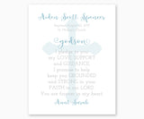 Personalized Baptism Gift Print for Goddaughter or Godson