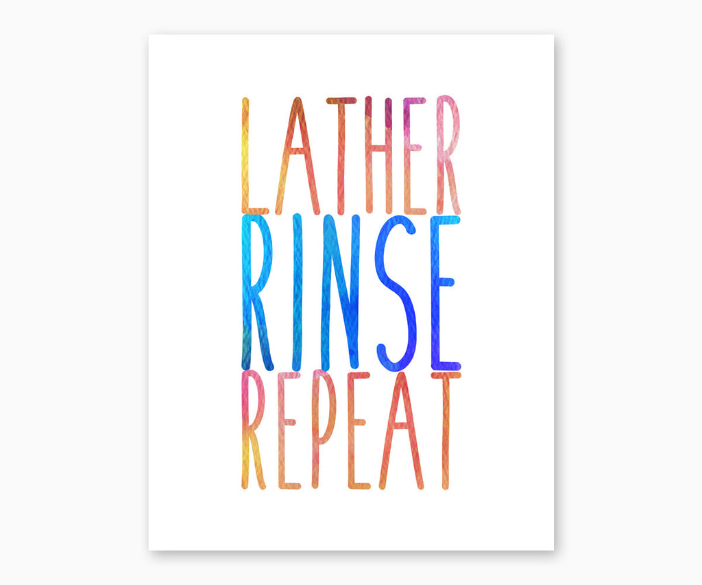 Lather Rinse Repeat blue red yellow
